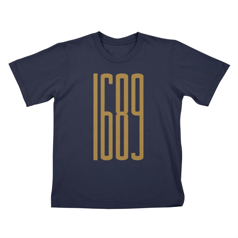 1689 in Kids T-shirt Navy by Reformed Christian Goods & Clothing