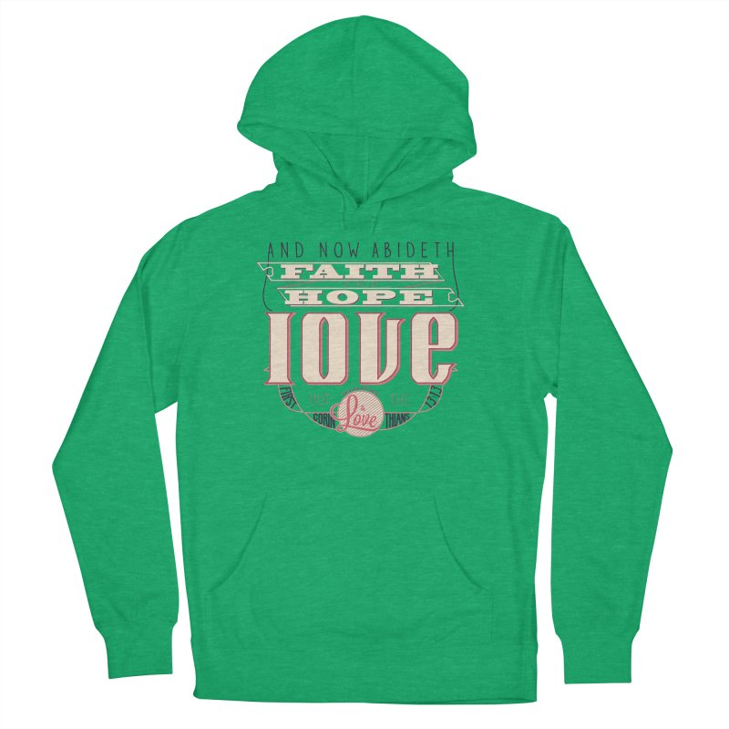 Faith Hope and Love   1 Corinthians 13:13 (feminine colors)   by Reformed Christian Goods & Clothing
