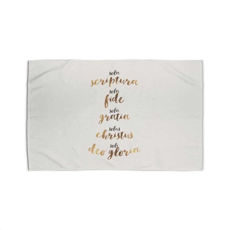 The Five Solas of the Reformation Home Rug by Reformed Christian Goods & Clothing