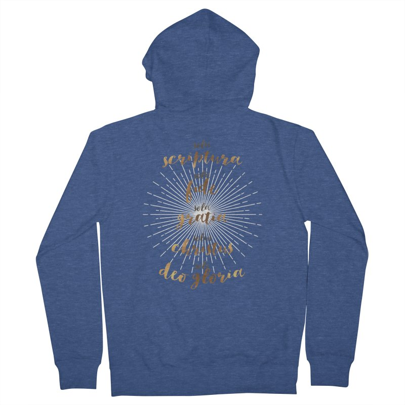 The Five Solas of the Reformation Men's Zip-Up Hoody by Reformed Christian Goods & Clothing