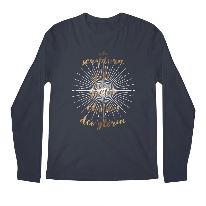 The Five Solas of the Reformation Men's Longsleeve T-Shirt by Reformed Christian Goods & Clothing