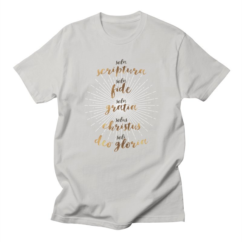 The Five Solas of the Reformation Men's T-Shirt by Reformed Christian Goods & Clothing