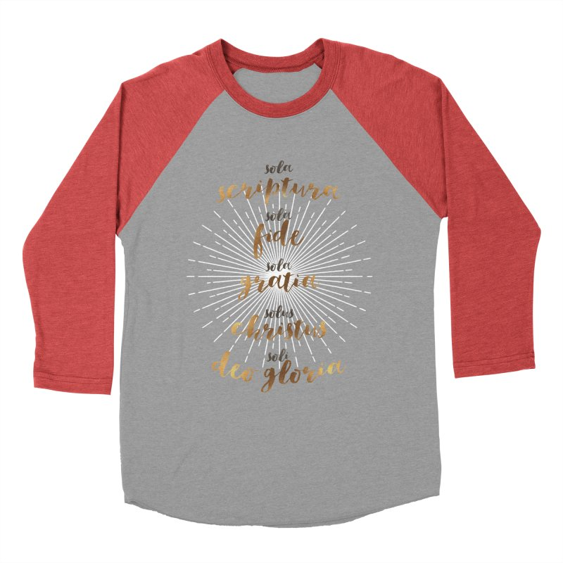 The Five Solas of the Reformation Men's Baseball Triblend T-Shirt by Reformed Christian Goods & Clothing