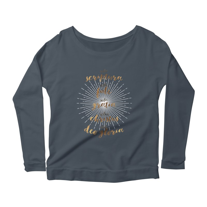 The Five Solas of the Reformation Women's Longsleeve Scoopneck  by Reformed Christian Goods & Clothing