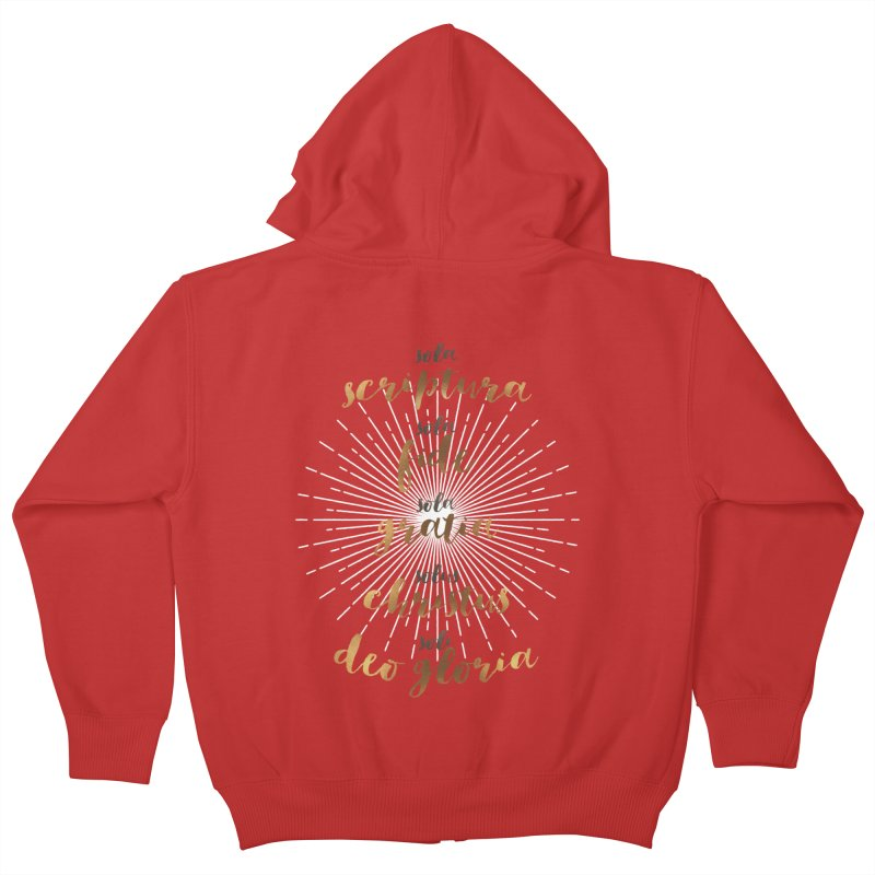 The Five Solas of the Reformation Kids Zip-Up Hoody by Reformed Christian Goods & Clothing