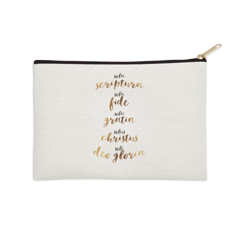 The Five Solas of the Reformation Accessories Zip Pouch by Reformed Christian Goods & Clothing