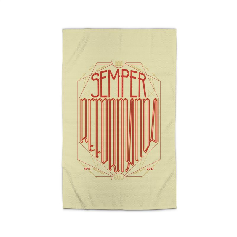 Semper Reformanda: Celebrating the 500th Anniversary of the Protestant Reformation Home Rug by Reformed Christian Goods & Clothing