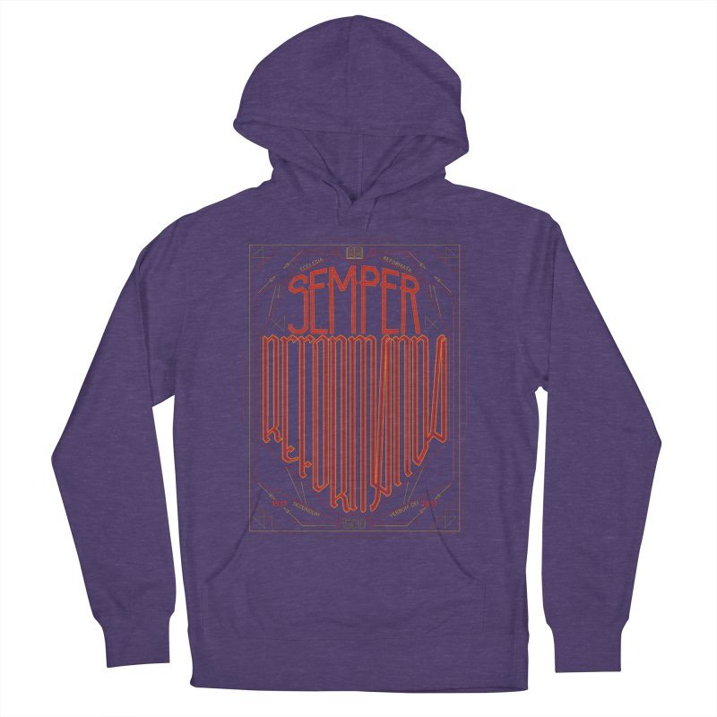 Semper Reformanda: Celebrating the 500th Anniversary of the Protestant Reformation Men's Pullover Hoody by Reformed Christian Goods & Clothing