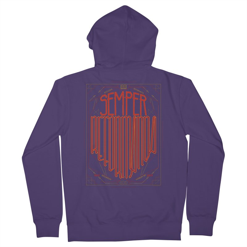 Semper Reformanda: Celebrating the 500th Anniversary of the Protestant Reformation Women's Zip-Up Hoody by Reformed Christian Goods & Clothing