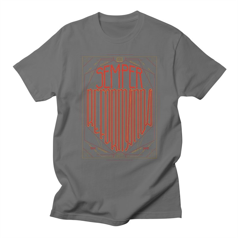Semper Reformanda: Celebrating the 500th Anniversary of the Protestant Reformation Men's T-shirt by Reformed Christian Goods & Clothing