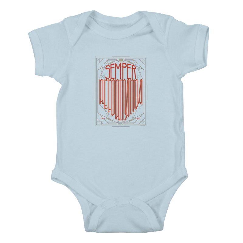Semper Reformanda: Celebrating the 500th Anniversary of the Protestant Reformation Kids Baby Bodysuit by Reformed Christian Goods & Clothing
