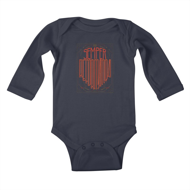 Semper Reformanda: Celebrating the 500th Anniversary of the Protestant Reformation Kids Baby Longsleeve Bodysuit by Reformed Christian Goods & Clothing
