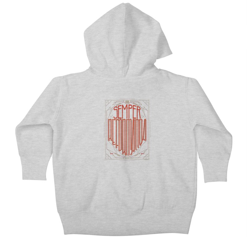 Semper Reformanda: Celebrating the 500th Anniversary of the Protestant Reformation Kids Baby Zip-Up Hoody by Reformed Christian Goods & Clothing