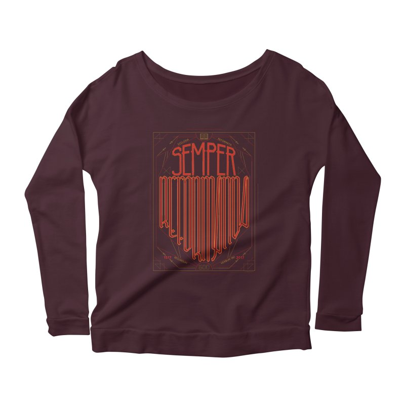 Semper Reformanda: Celebrating the 500th Anniversary of the Protestant Reformation Women's Longsleeve Scoopneck  by Reformed Christian Goods & Clothing