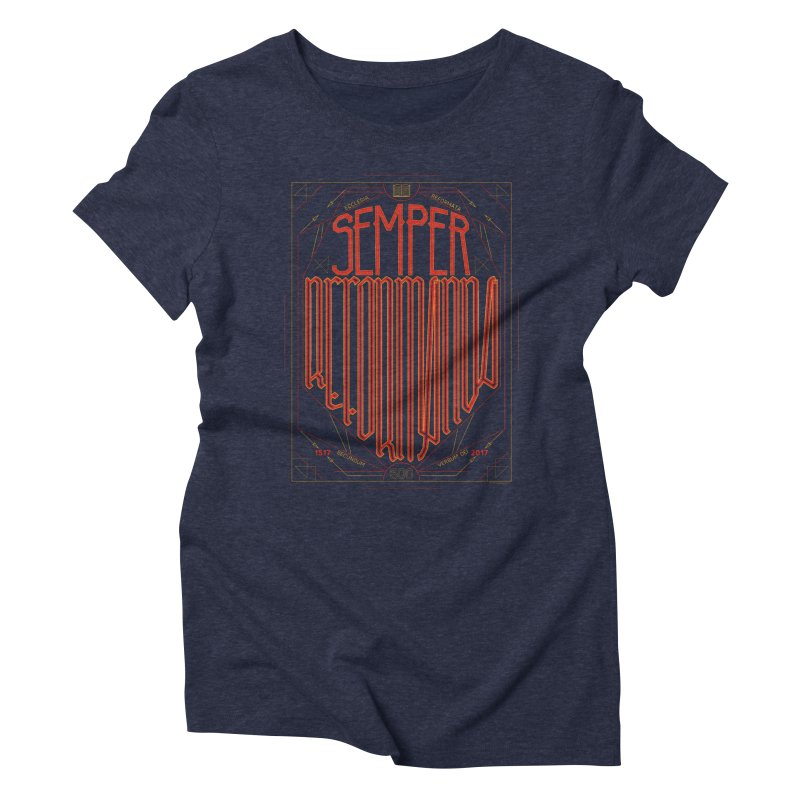 Semper Reformanda: Celebrating the 500th Anniversary of the Protestant Reformation Women's Triblend T-Shirt by Reformed Christian Goods & Clothing