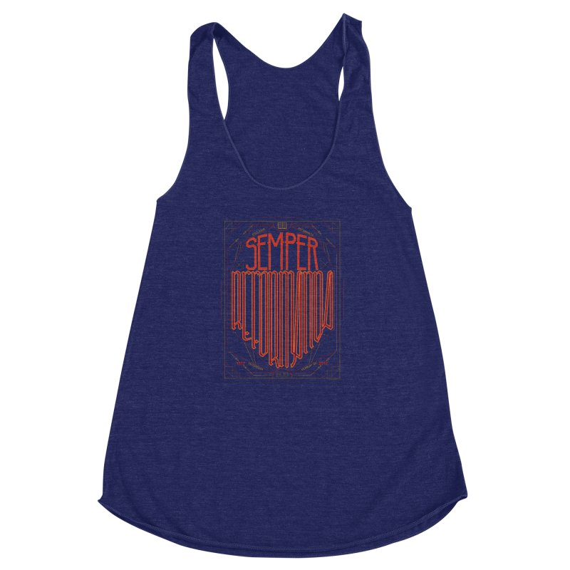 Semper Reformanda: Celebrating the 500th Anniversary of the Protestant Reformation Women's Racerback Triblend Tank by Reformed Christian Goods & Clothing