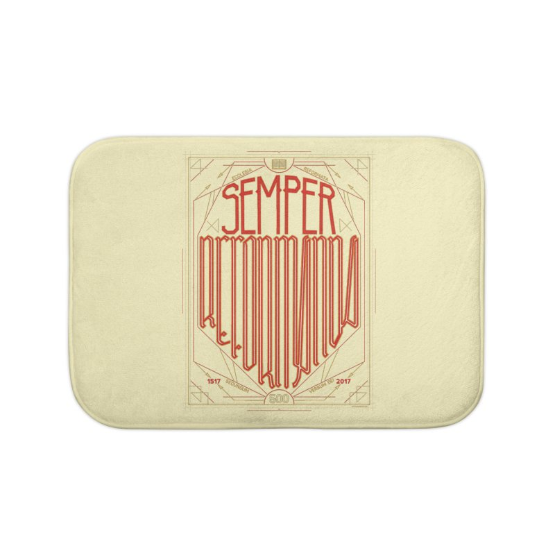 Semper Reformanda: Celebrating the 500th Anniversary of the Protestant Reformation Home Bath Mat by Reformed Christian Goods & Clothing