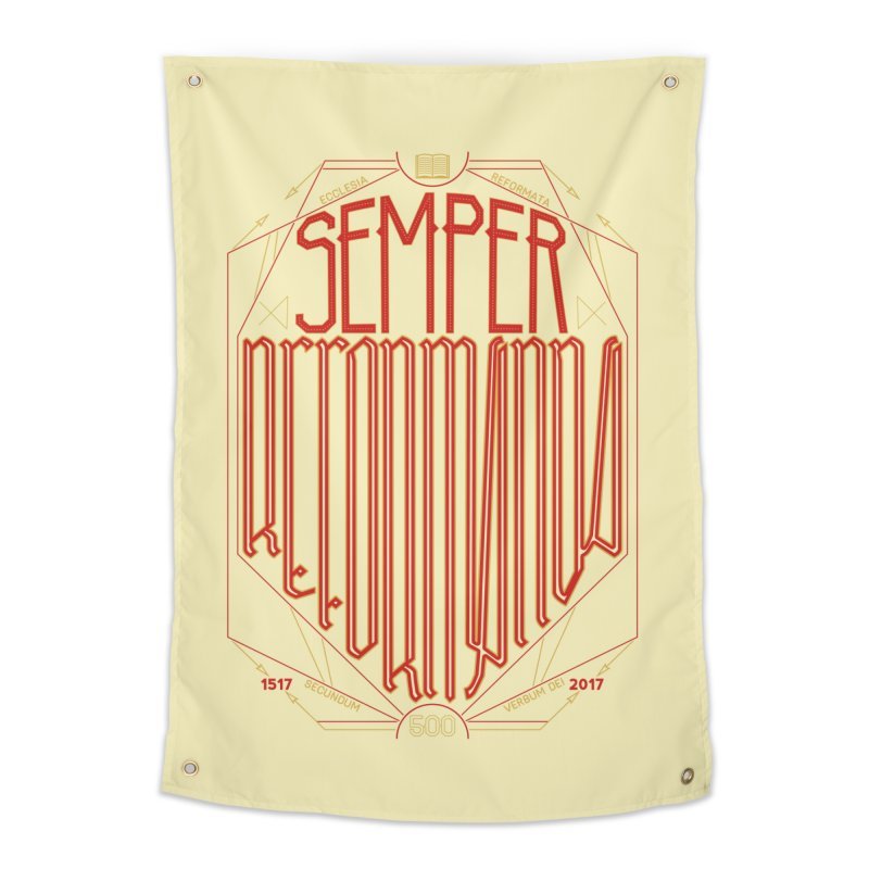 Semper Reformanda: Celebrating the 500th Anniversary of the Protestant Reformation Home Tapestry by Reformed Christian Goods & Clothing