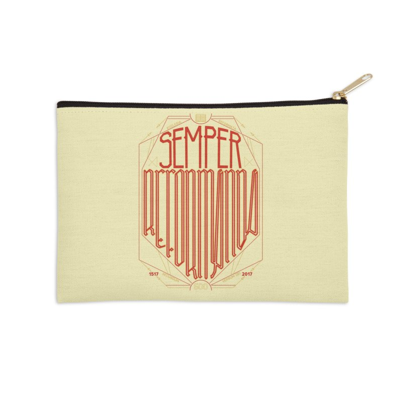 Semper Reformanda: Celebrating the 500th Anniversary of the Protestant Reformation Accessories Zip Pouch by Reformed Christian Goods & Clothing