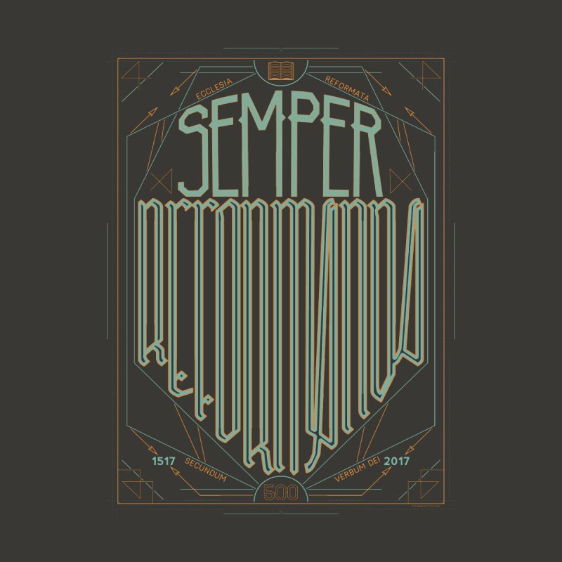 Semper Reformanda: Celebrating the 500th Anniversary of the Protestant Reformation (alt color) Men's T-Shirt by A Worthy Manner Goods & Clothing