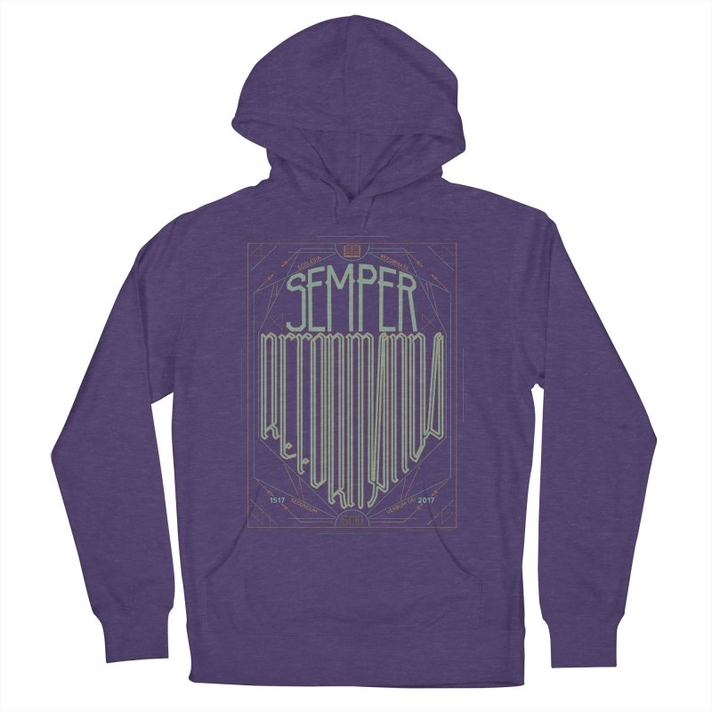 Semper Reformanda: Celebrating the 500th Anniversary of the Protestant Reformation (alt color) Men's Pullover Hoody by Reformed Christian Goods & Clothing