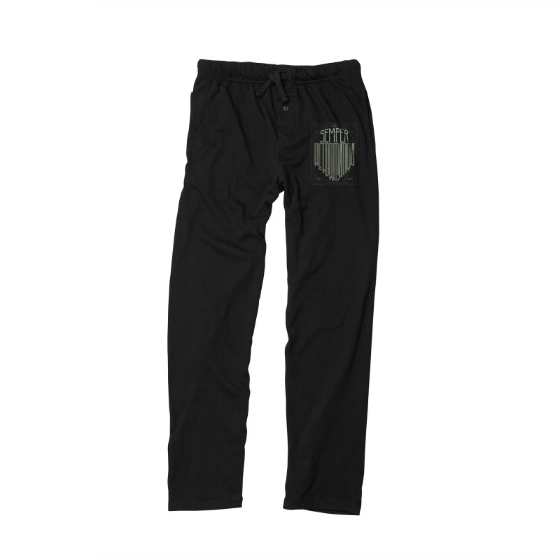 Semper Reformanda: Celebrating the 500th Anniversary of the Protestant Reformation (alt color) Men's Lounge Pants by Reformed Christian Goods & Clothing