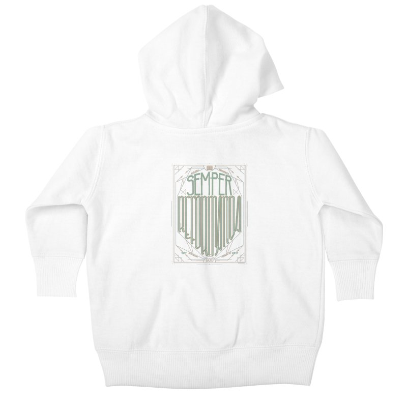 Semper Reformanda: Celebrating the 500th Anniversary of the Protestant Reformation (alt color) Kids Baby Zip-Up Hoody by Reformed Christian Goods & Clothing
