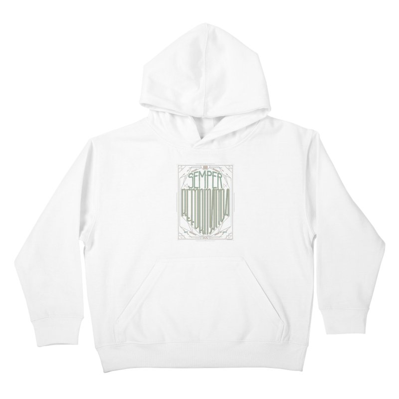 Semper Reformanda: Celebrating the 500th Anniversary of the Protestant Reformation (alt color) Kids Pullover Hoody by Reformed Christian Goods & Clothing