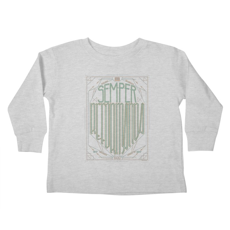 Semper Reformanda: Celebrating the 500th Anniversary of the Protestant Reformation (alt color) Kids Toddler Longsleeve T-Shirt by Reformed Christian Goods & Clothing