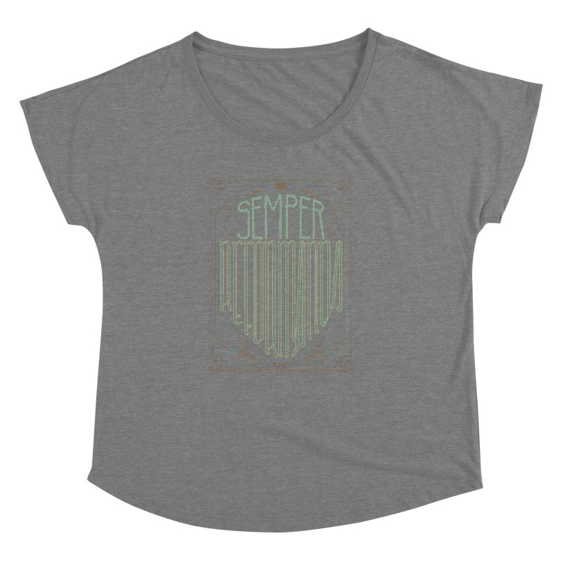 Semper Reformanda: Celebrating the 500th Anniversary of the Protestant Reformation (alt color) Women's Dolman by Reformed Christian Goods & Clothing