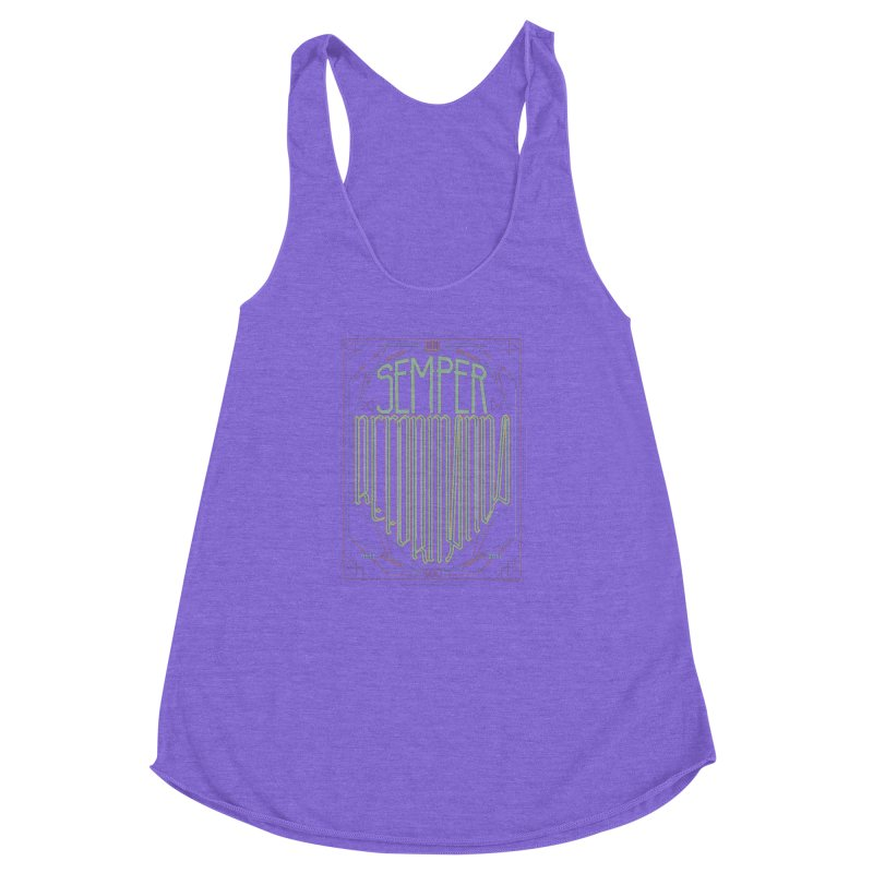 Semper Reformanda: Celebrating the 500th Anniversary of the Protestant Reformation (alt color) Women's Racerback Triblend Tank by Reformed Christian Goods & Clothing