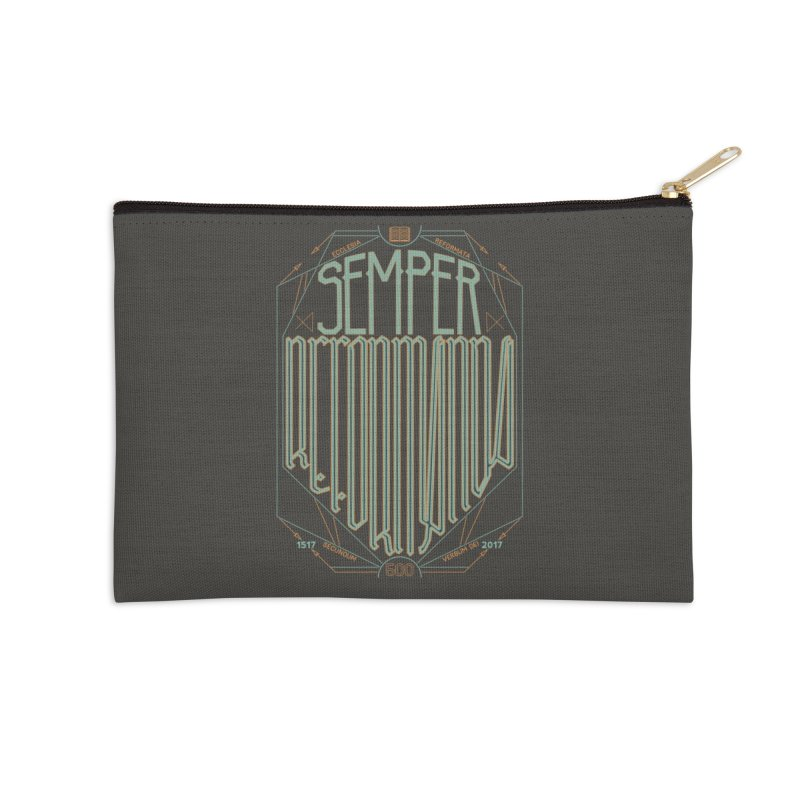 Semper Reformanda: Celebrating the 500th Anniversary of the Protestant Reformation (alt color) Accessories Zip Pouch by Reformed Christian Goods & Clothing