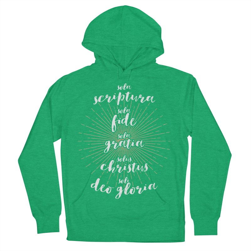 The Five Solas of the Reformation (alternative color) Women's Pullover Hoody by Reformed Christian Goods & Clothing