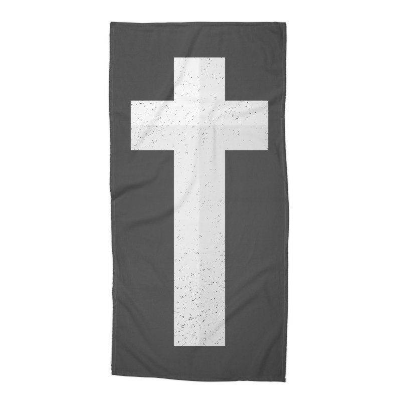 The Cross (white) Accessories Beach Towel by Reformed Christian Goods & Clothing