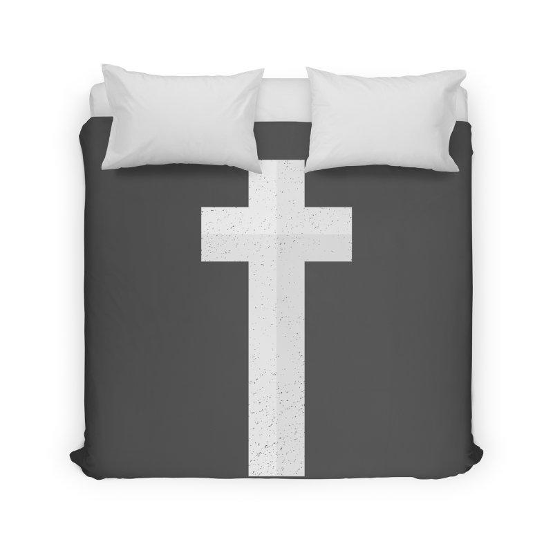 The Cross (white) Home Duvet by Reformed Christian Goods & Clothing
