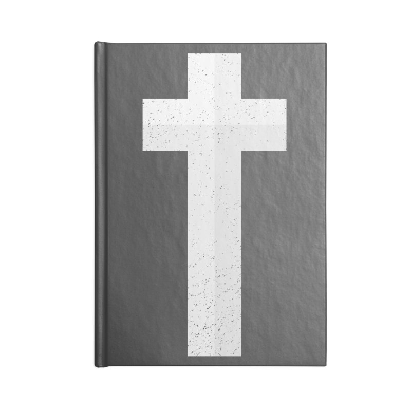 The Cross (white) Accessories Notebook by Reformed Christian Goods & Clothing