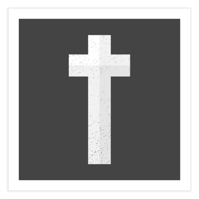 The Cross (white) Home Fine Art Print by Reformed Christian Goods & Clothing