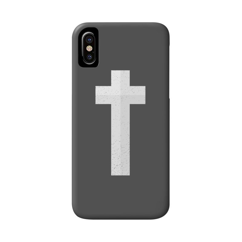 The Cross (white) Accessories Phone Case by Reformed Christian Goods & Clothing