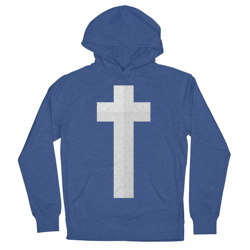 The Cross (white) Men's Pullover Hoody by Reformed Christian Goods & Clothing