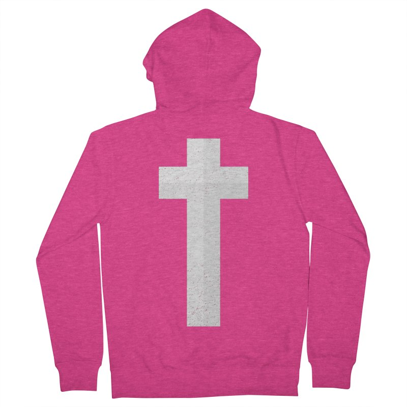 The Cross (white) Women's Zip-Up Hoody by Reformed Christian Goods & Clothing