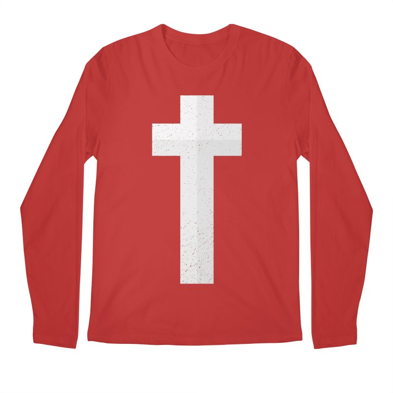 The Cross (white) Men's Longsleeve T-Shirt by Reformed Christian Goods & Clothing