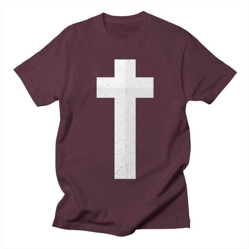 The Cross (white) Men's T-shirt by Reformed Christian Goods & Clothing