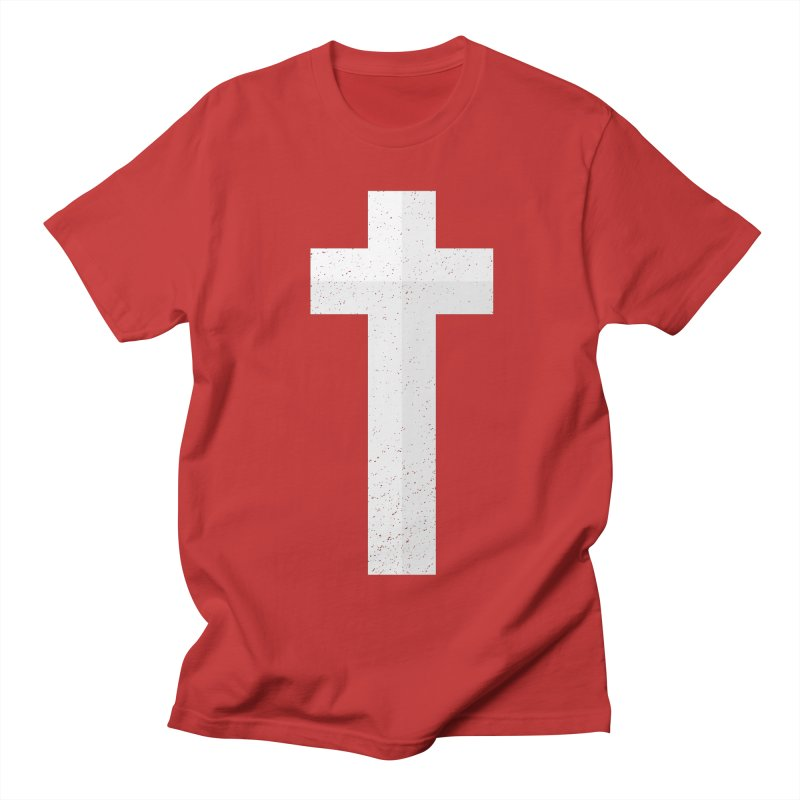 The Cross (white) Men's T-Shirt by Reformed Christian Goods & Clothing