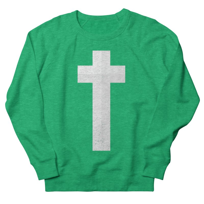 The Cross (white) Men's Sweatshirt by Reformed Christian Goods & Clothing
