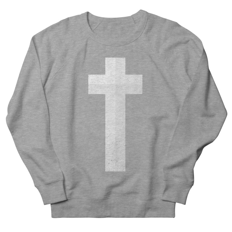 The Cross (white) Men's Sweatshirt by Reformed Christian Goods & Clothing