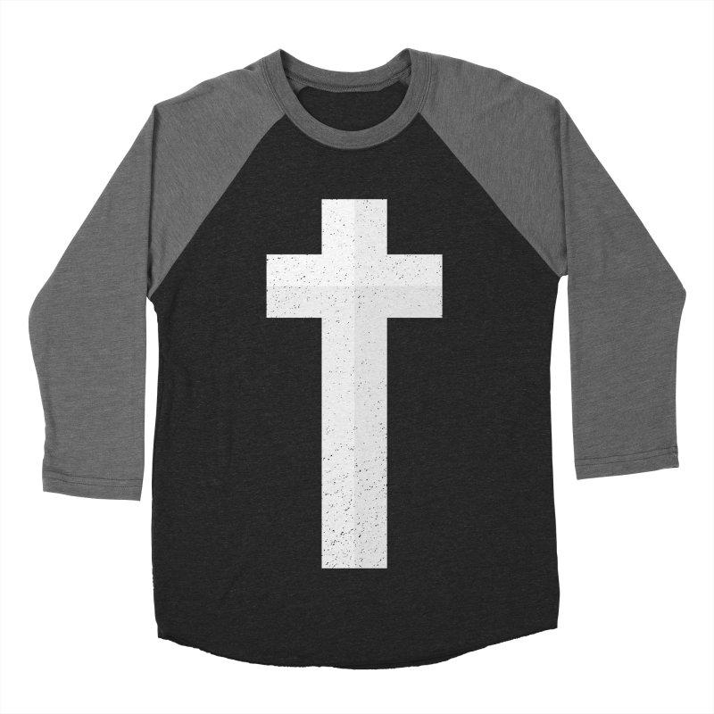 The Cross (white) Men's Baseball Triblend T-Shirt by Reformed Christian Goods & Clothing