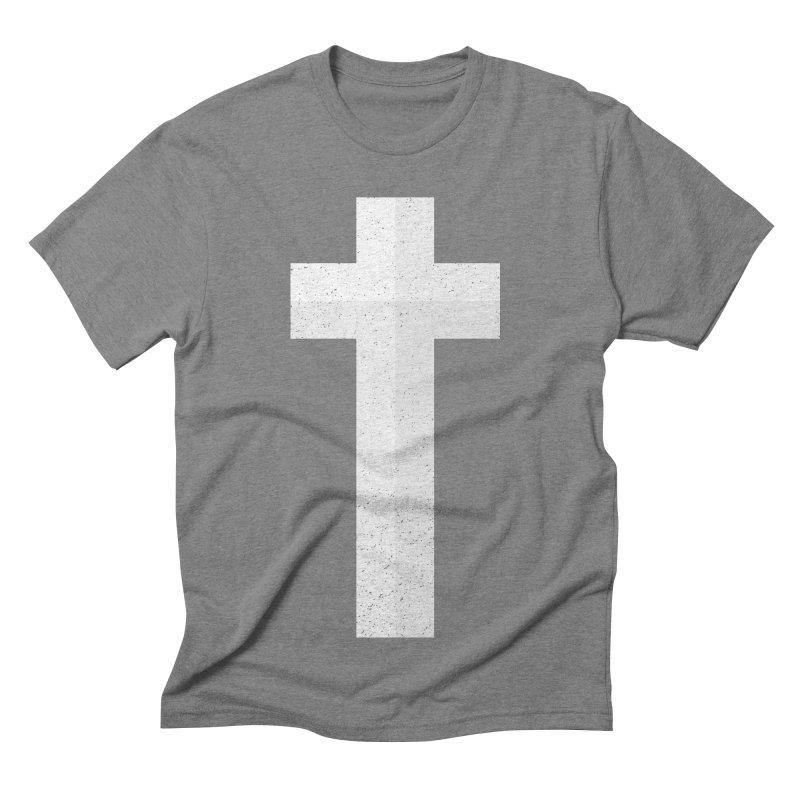 The Cross (white) Men's Triblend T-shirt by Reformed Christian Goods & Clothing