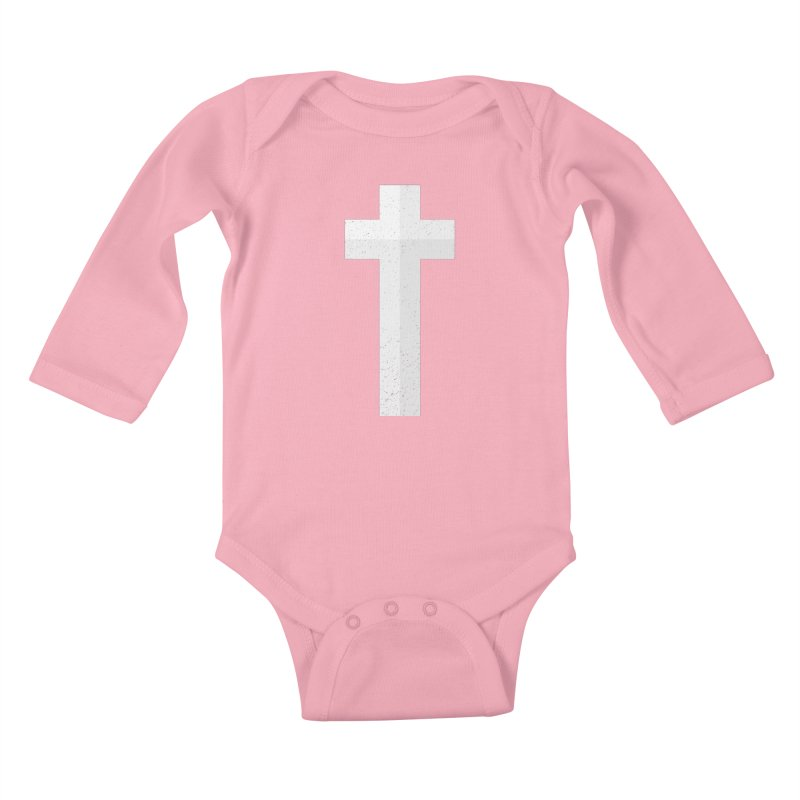 The Cross (white) Kids Baby Longsleeve Bodysuit by Reformed Christian Goods & Clothing