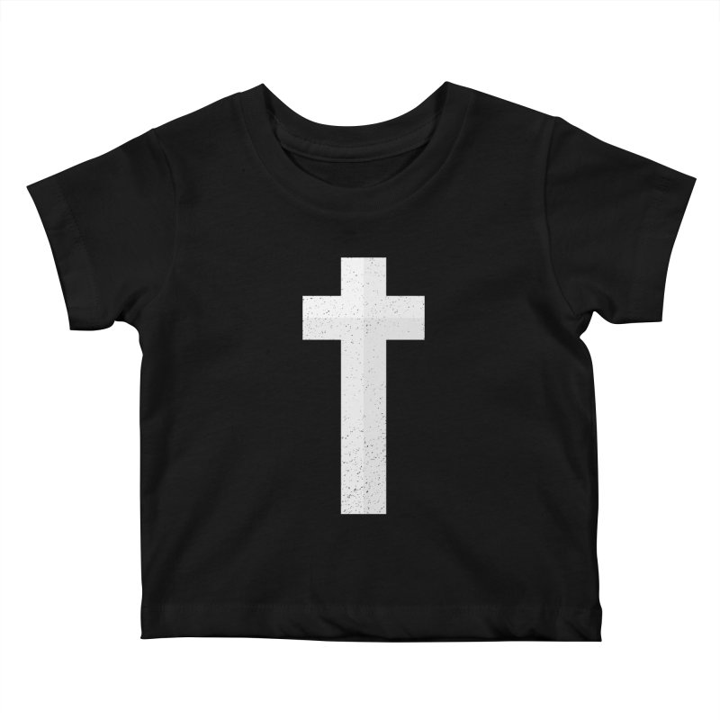 The Cross (white) Kids Baby T-Shirt by Reformed Christian Goods & Clothing