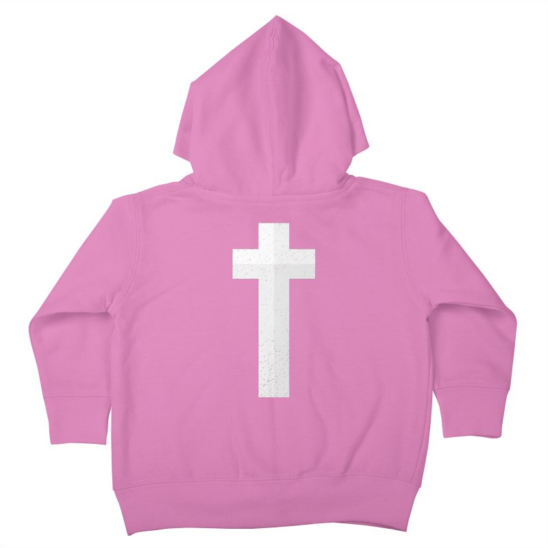 The Cross (white) Kids Toddler Zip-Up Hoody by Reformed Christian Goods & Clothing